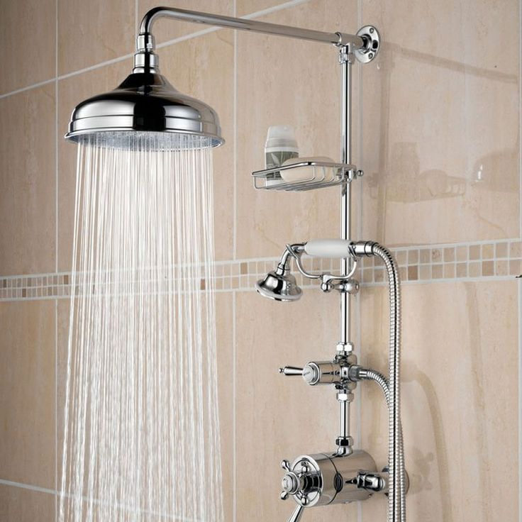 Bristan Trinity Thermostatic Surface Mounted Shower With Rigid Riser And Divertor To Shower