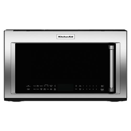 KitchenAid Over-the-Range Microwave - 1.9 Cu. Ft. - Stainless Steel it moves 400. Cu ft. Per min. Air  :)
