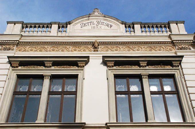 Zettl-Langer ház homlokzata