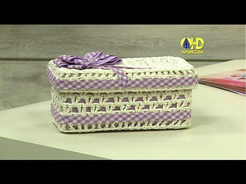 Vida com Arte | Caixa em crochê endurecido por Carmem Freire - 31 de Janeiro de 2015 - YouTube