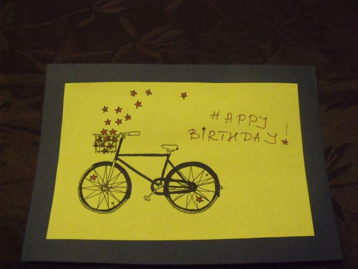 Birthday card for bicycle lovers