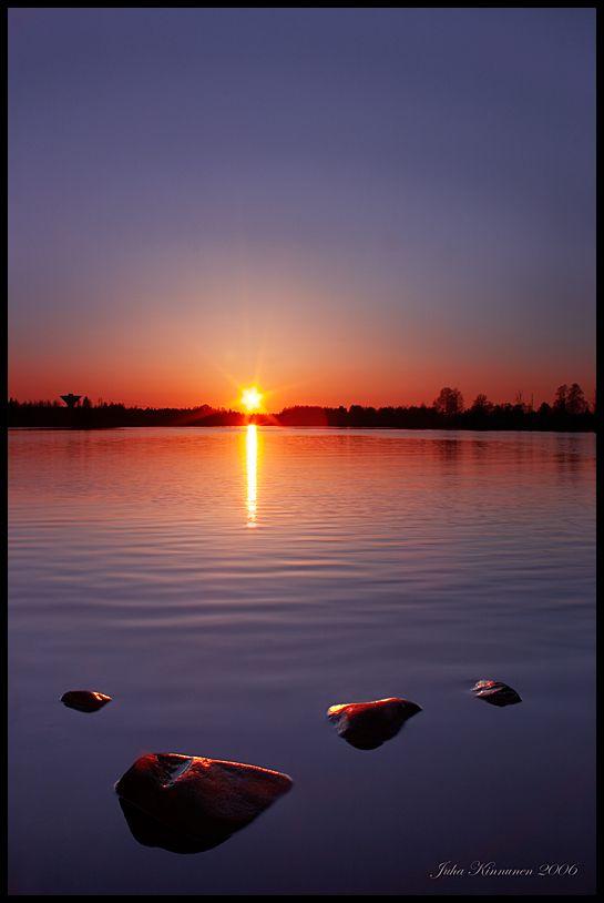 Oulujoki Sunset, Finland by jjuuhhaa on DeviantArt