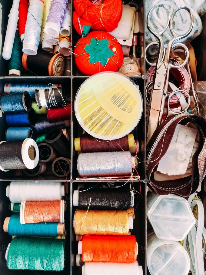 Sewing box by OSORIOartist on Creative Market