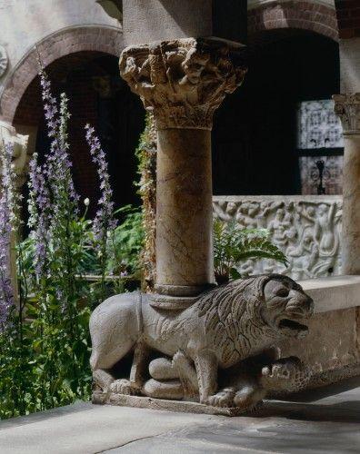 Italians stylobate lion, c.1200, possibly a symbol of Christ's vigilance. (Isabella Stewart Gardner Museum)