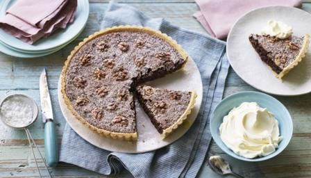 Crumbly pastry is filled with a mixture of chocolate, espresso, walnuts and amaretti biscuits to make this rich and decadent Italian dessert. Bellissimo!