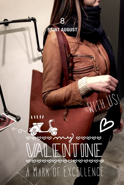 SAINT AUGUST - Belides Daisy shopper bag. #valentines_day with us!