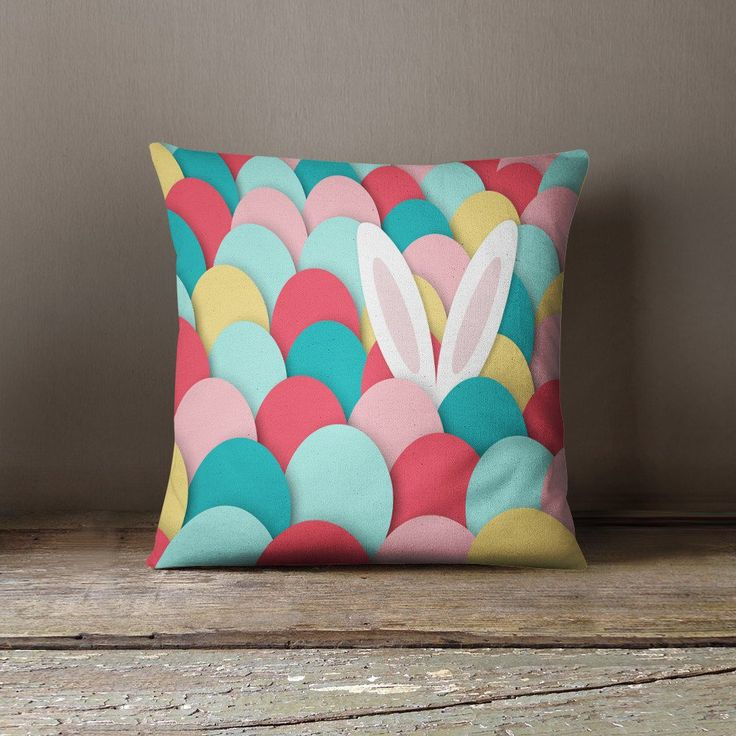 Raz 18 Colorful Bunny Easter Pillow: 18 Joyful Handmade Easter Decorations You'll Want To Have