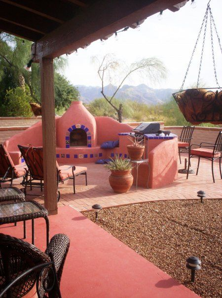132 best mexican courtyards images on pinterest for Mexican porch designs