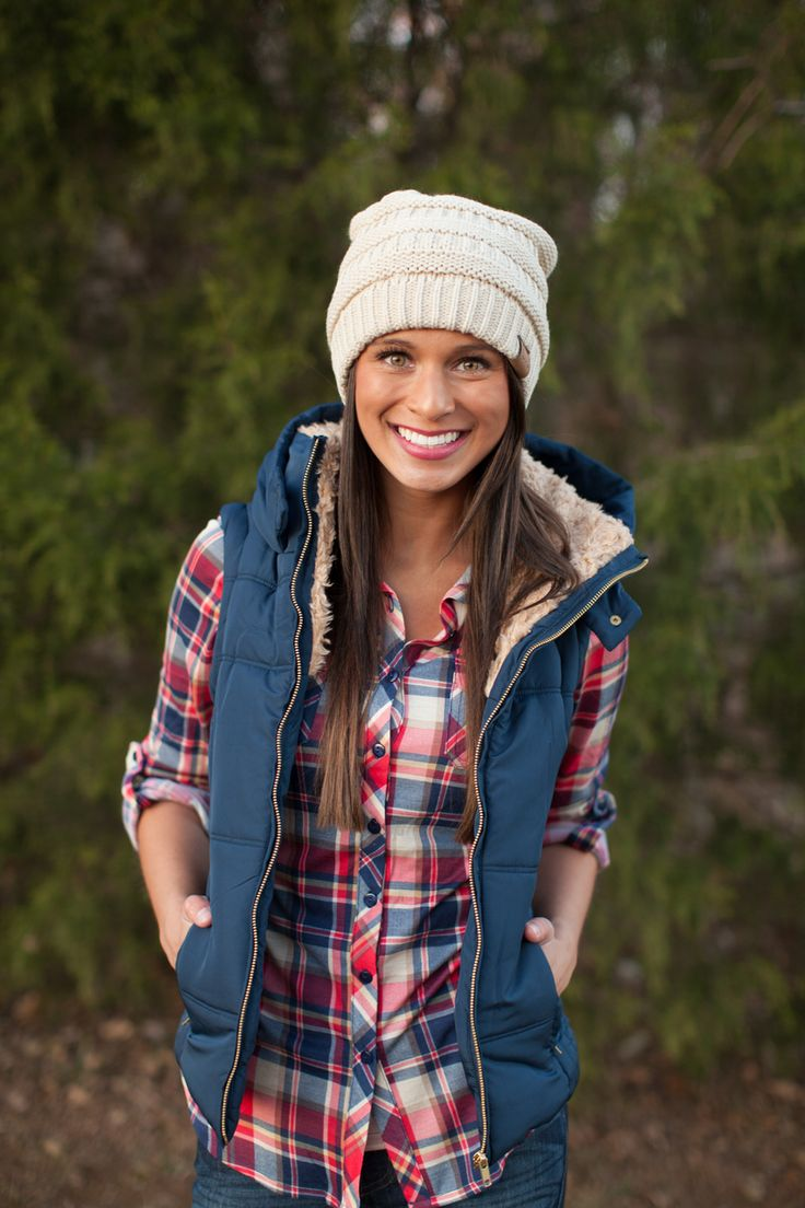 The Pink Lily Boutique - Navy Hooded Puffer Vest, $46.00 (http://thepinklilyboutique.com/navy-hooded-puffer-vest/)