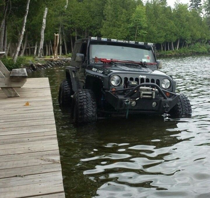 I would never do this with my Jeep but the pic is cool.