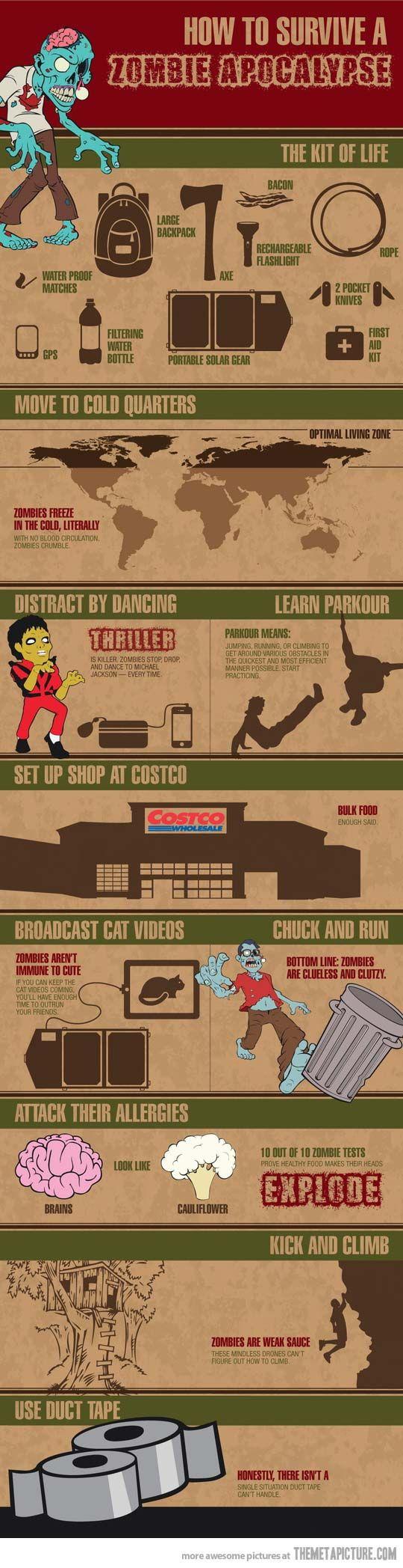 How to survive a zombie apocalypse…