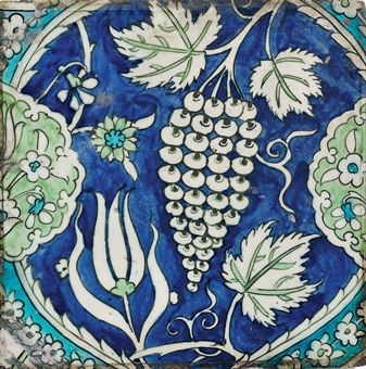 A DAMASCUS POTTERY TILE | OTTOMAN SYRIA, 17TH CENTURY