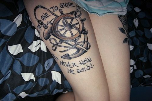 be the one to guide me but never hold me tattoos