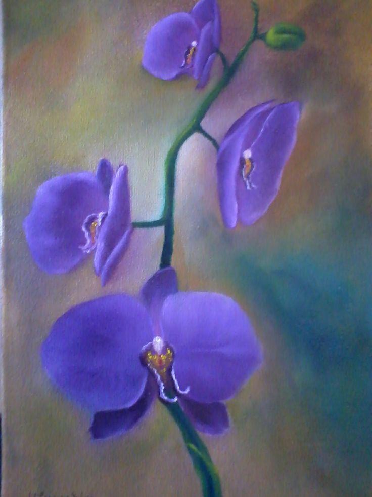 Orquideas (Óleo sobre tela)