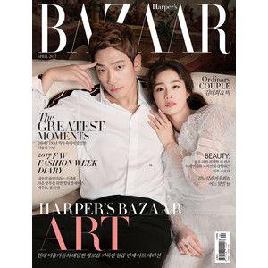 BAZAAR (韓国雑誌) / 2017年4月号(表紙:ピ&キム・テヒ) [韓国語] [海外雑誌] [ファッション][BAZAAR] :韓国音楽専門ソウルライフレコード