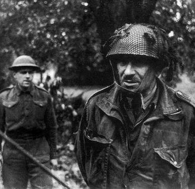 General Sosabowski at Driel with Polish troops - Operation Market Garden - Battle of Arnhem