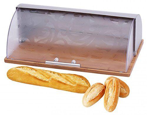 Brotkasten mit Ornament-Design - Edelstahl/Bambus - Brotbehälter - Brotbox - Brotdose - Brotkiste - Brotaufbewarung