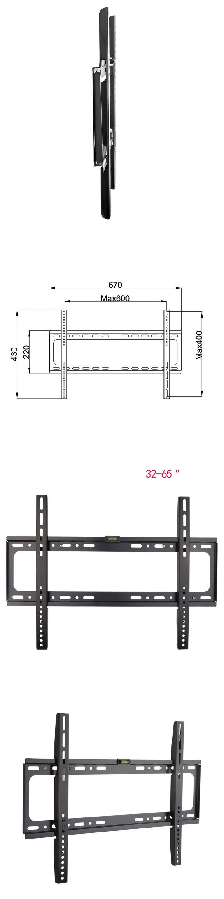 TV Wall Mount Articulating Plasma Fixed LCD LED TV Mount Wall Mount Bracket 32-65 Inch up to VESA 600 x 400mm