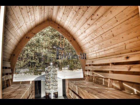 Iglu Sommerhus udendørs sauna tønde - TimberIN