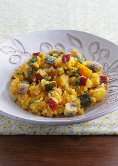 秋のほっくり玄米リゾット のレシピ・作り方 │ABCクッキングスタジオのレシピ | 料理教室・スクールならABCクッキングスタジオ
