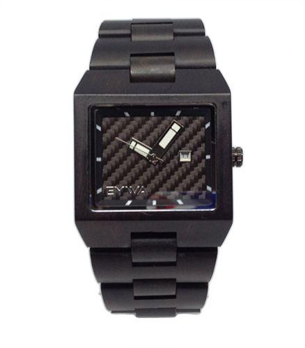 Reloj Madera de Ebano con Placa Negro de Carbono http://relojesdemadera-eywa.es/…/reloj-madera-de-ebano-neg…/ … #EYWARELOJES