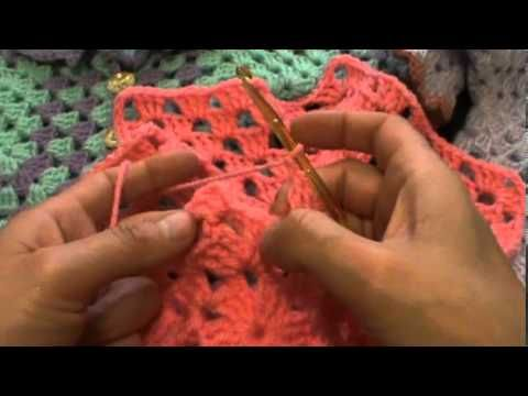Crochet granny square cardigan from a hexagon - YouTube