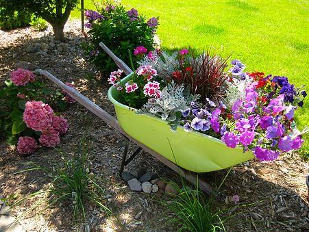 Our DIYnamic Home Blog | Wheel Barrow Planter