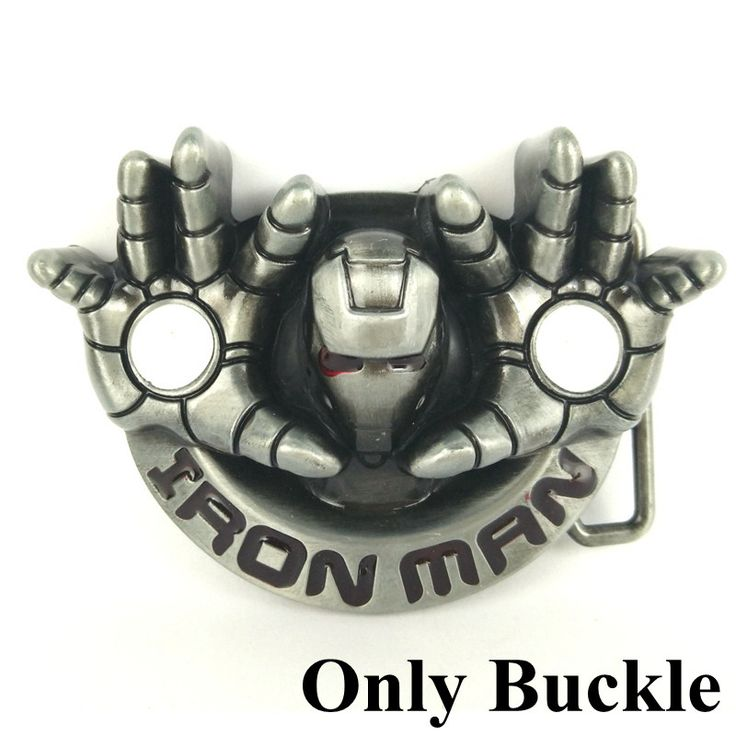 Retail Belt buckles wholesale iron man belt buckle metal accessories for belts fivelas de cinto homem cowboy western belt buckle