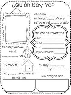 Srta Parisi ¿Quién soy yo? Back to School project! in 2020