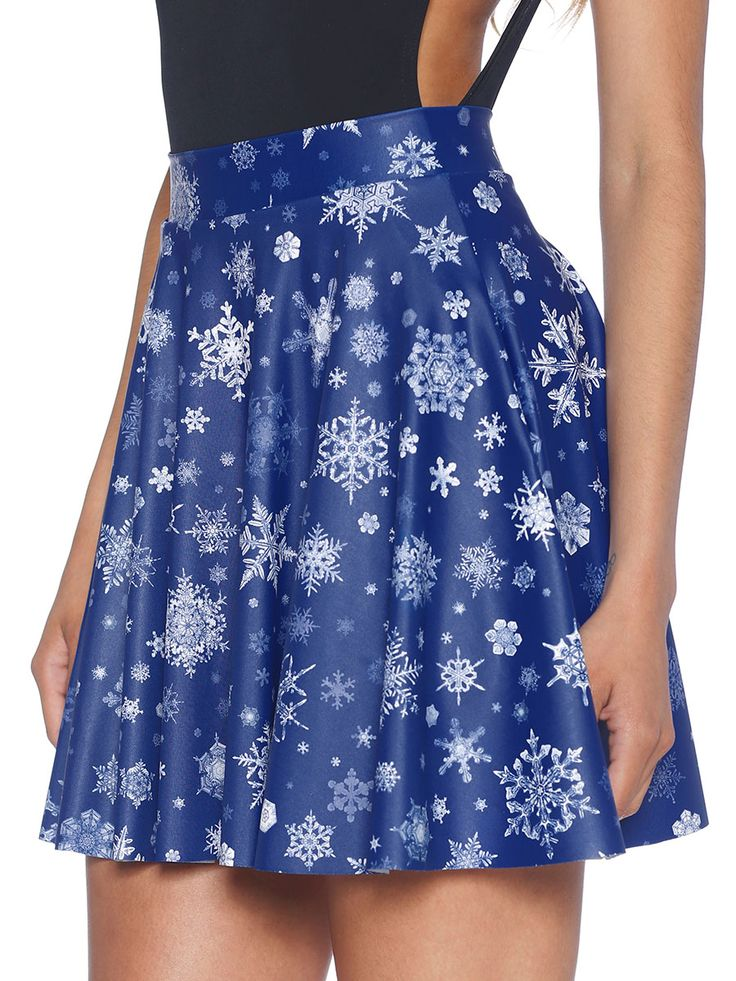 Snowfall Pocket Skater Skirt (WW 48HR $65AUD / US - LIMITED $52USD) by Black Milk Clothing