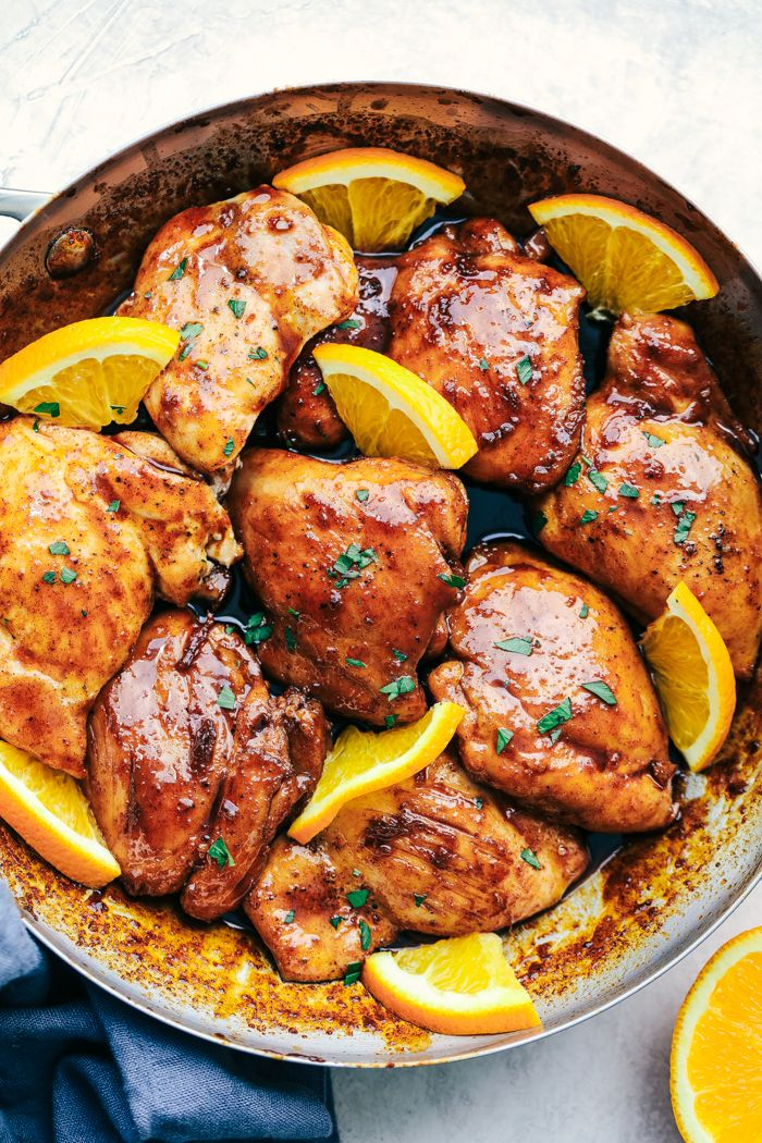Honey Orange Glazed Chicken #MainDishes #Chicken