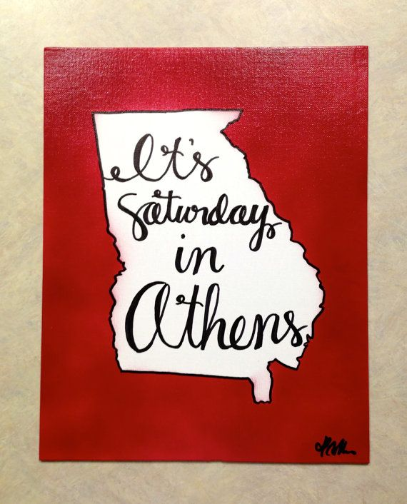 "UGA ""It's Saturday in Athens"" Canvas 8.5""x11"" Wall Decor"