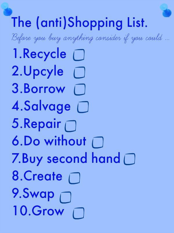 The anti shopping list, shopping  The BEST shopping list for a thrifty family How to shop on a budget and save lots of money