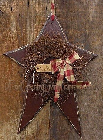 primitive country crafts   Primitive Country Hancrafted Wooden Star   Prim crafts