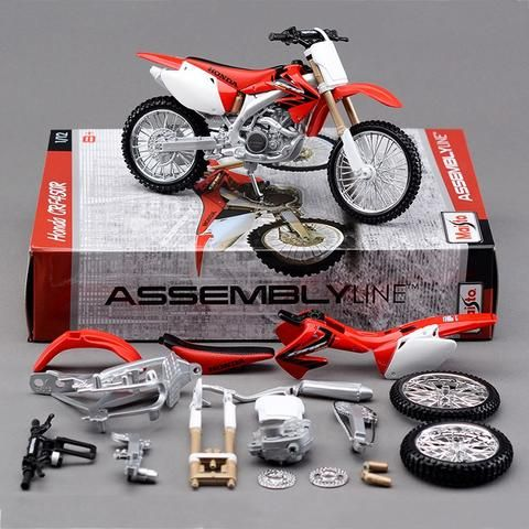 Toy CRF450R Motorcycle Building Kits 1/12 Model Assembly