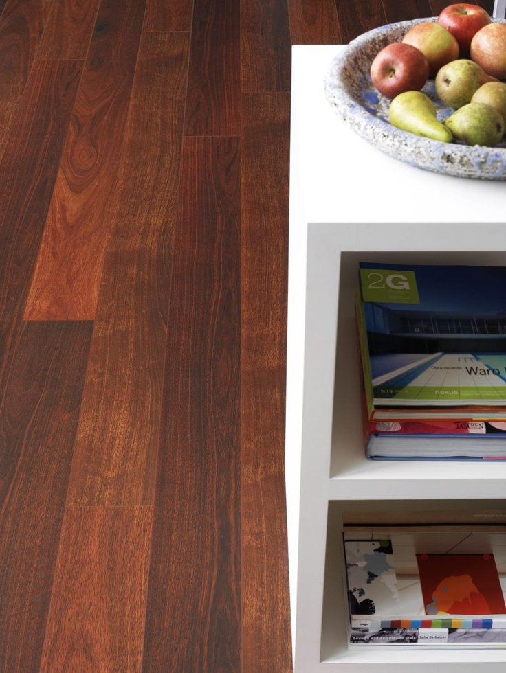 The beauty of Jarrah with the strength of Laminate! - This Beautiful High Definition Laminate Flooring is from Belgium and available now in Australia at www.fowles.com.au