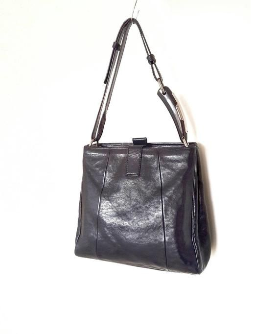 c6c9f850300c YSL Yves Saint Laurent Rive Gauche Black Leather Bag