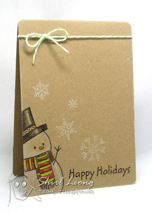 Adorable one-layer holiday card layout