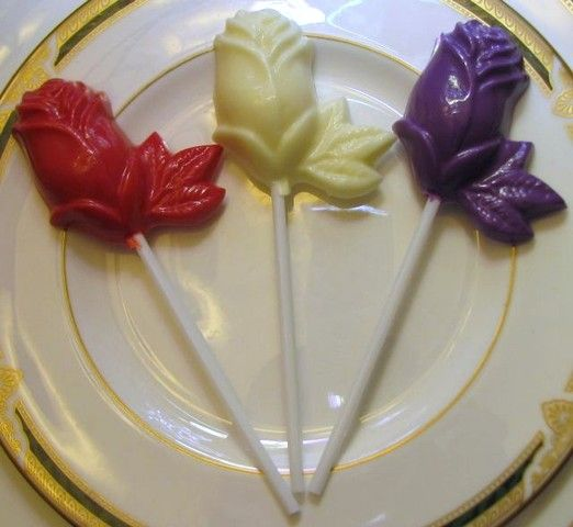 Chocolate roses lollipop