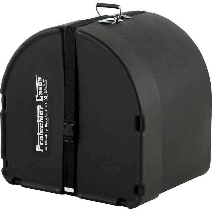 Protechtor Cases Protechtor Classic Bass Drum Case, Foam-lined 22 x 14 in. Black