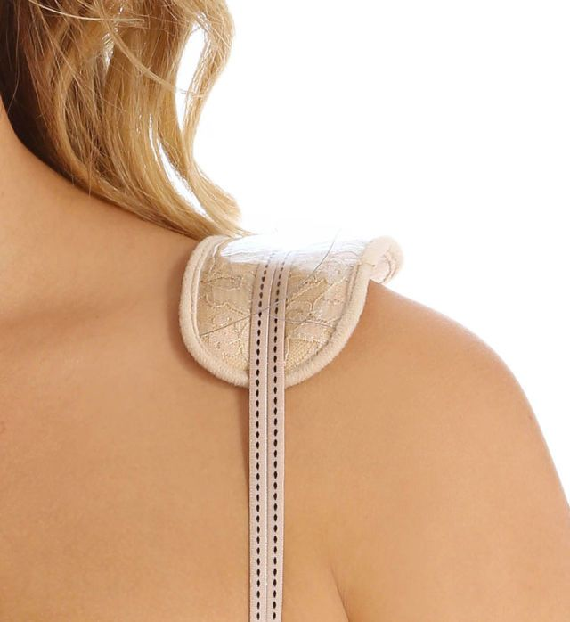 In pain from your straps digging into your shoulders? Slide silicone bra strap pads under your straps. They relieve the pressure that's caused by strap tugging and prevent grooves in your skin