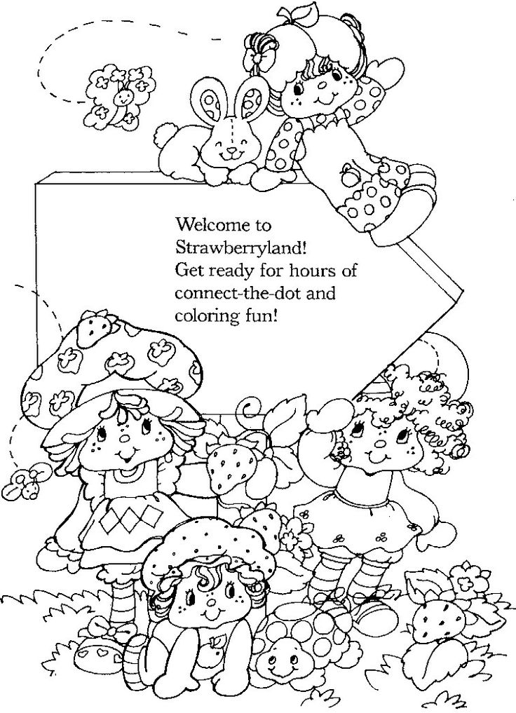 Pin by ramona quimby on vintage shortcake colouring books for Ramona quimby coloring pages