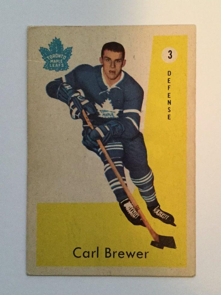 Carl Brewer Parkhurst rookie hockey card 1950s Hockey