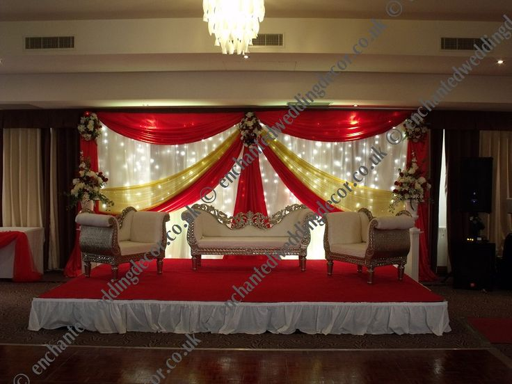 Asian wedding stage decor for hire bristol class reunion for Asian stage decoration
