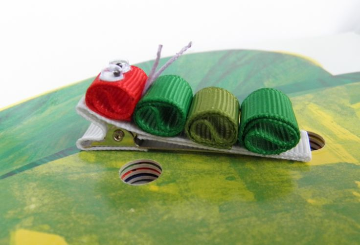 Very Hungry Caterpillar - ribbon sculpture cutie!