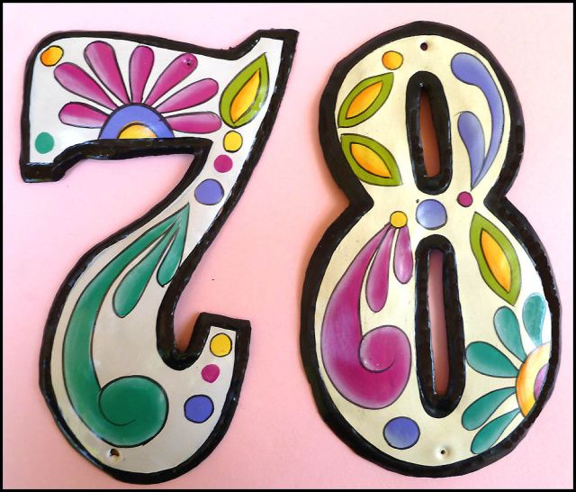 Handcrafted Address Numbers And Letters For Your Home