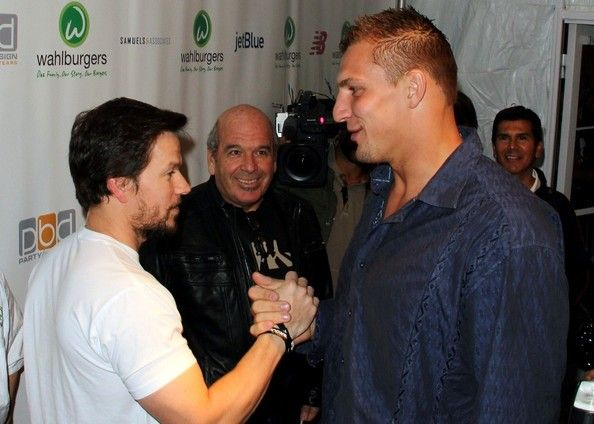 Two HOTties - The Gronk (Patriots) and the Boogie Knight !  haha #TAGTEAM
