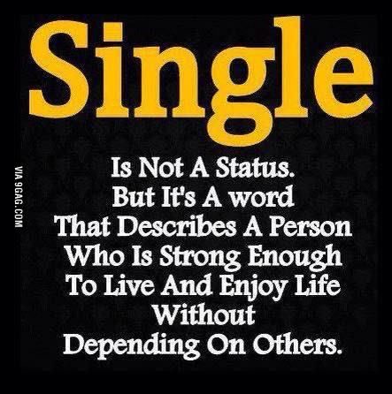 Dont be sad if you are a single :D