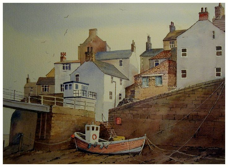 Staithes_watercolour by Malcolm Coils