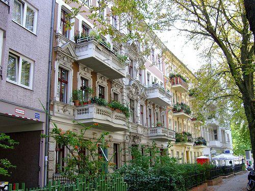 ღღ Berlin-Friedenau ~~ I miss these streets with their beautiful old houses and balconies full of plants. Used to live close by... ~ Kat